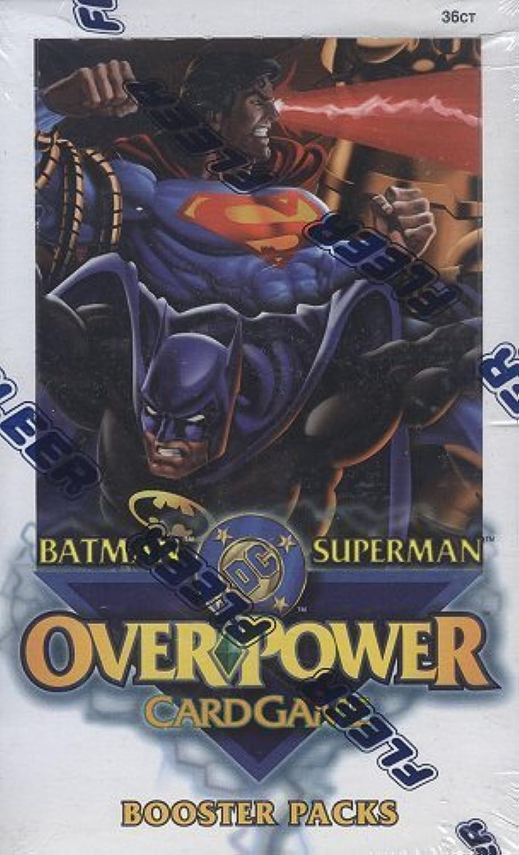 Fleer DC [Batman Superman] OverPower Booster Box [Toy]