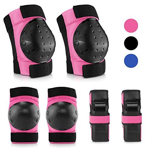 IPSXP Protektoren Set, Schoner Schutzausrüstung Set mit Ellbogenschützer Knieschützer Armbänder für Kinder und Jugend Skater, Rollerblading, Skateboard, Roller, Fahrradfahren (M)