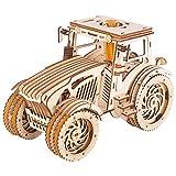 Fujinfeng Bois Puzzle 3D, Maquette Bois Puzzle 3D Bois Puzzle - Puzzle mécanique en Bois pour Enfants et Adultes-Tracteur