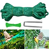 Hongyans Rete per Uccelli Protezione 3m x 11m Rete Anti Uccelli per Piante da Giardino Stagni Frutti Verdura con 10 Pezzi Picchetti da Giardino Forma di U e 100 Pezzi Fascette