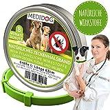 Medidog Natürliches Zeckenhalsband für Hunde (Größe L für mittlere und große Hunde)