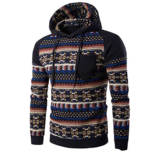 Clearance Sale [M-2XL] ODRD Hoodie Männer Sweatshirt Herren Retro Sweater Outwear Sweatjacke Parka Cardigan Lässige Mantel Kapuzenpulli Pulli Pullover Langarmshirts Jacke Hooded Top