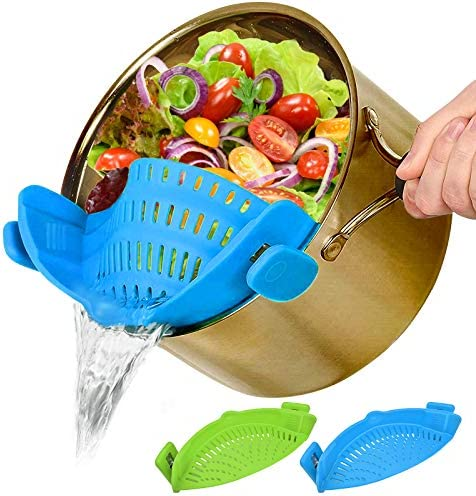 Food Mesh Strainers Fine Strainer 2 PACK Clip On Colander Rice Strain Sieve Sifter Vegetable product image