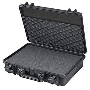 TOMcase Wasserdichter Outdoor Koffer für Notebook / Laptop und Zubehör; bruchfester Hartschalenkoffer mit konfigurierbarem Rasterschaumstoff