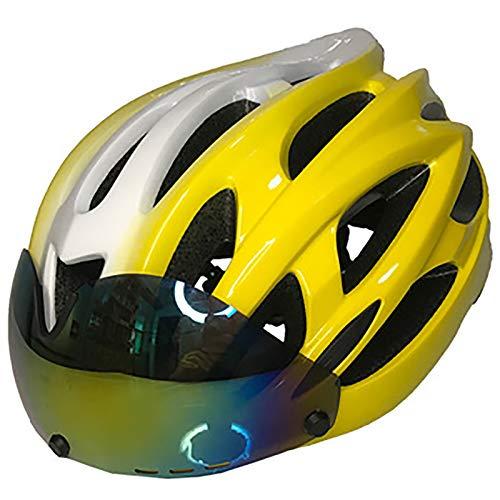 MTTKTTBD Super Leggero Casco Bici con Bluetooth,Erwachsene Regolabile Casco Bicicletta con Visiera Magnetica Staccabile,Professionale Casco da Bici per Montagna e Strada Uomini Donne