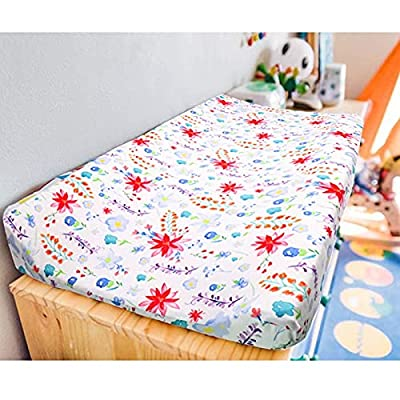 Floral Baby Changing Pad Cover, Soft Diaper Changing Pad Coverfor Girl, Changing Mat Cover, Stretchy Newborn Changing Table Sheet, Infant Diaper Changing Pad Sheets