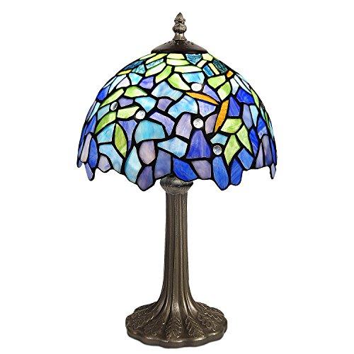 World Art TW60511 Lampes Style Tiffany Chevet Wisteria, 40x25x25 Cm