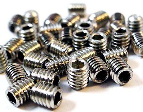 Lot de 20 vis à douille M6 x 6 mm en acier inoxydable 316 Norme marine (DIN 916)