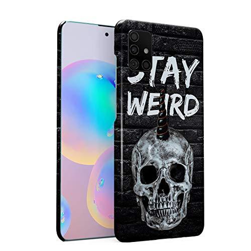 MerchCandy Hülle Hardcase Kompatibel mit Samsung Galaxy A51 Schädel Skelett Quote Motivational Realistic Human Skull Grunge Skeleton Punk Gothic Quote Death eng Anliegendes, Dünnes Handyhülle