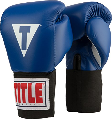 Title Classic USA Boxing Competition Gloves, Blue, 12 oz