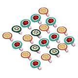 20 pièces cheveux de chien arcs belle forme de fruit animaux pinces à cheveux chiot coiffure toilettage accessoire de cheveux pour animaux de compagnie pour chats chiens chaton chiots lapins