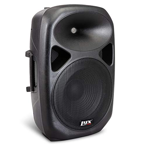 "LyxPro 12"" PA System Powerful Compact PA Portable Active Speaker System with Equalizer, Bluetooth, SD Card Slot, USB, MP3, XLR, 1/4"", 3.5mm Input Connections - SPA-12"