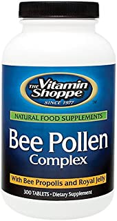 The Vitamin Shoppe Bee Pollen Complex 1,000MG, Superfood with Bee Propolis and Royal Jelly, Seasonal Immune System Support...