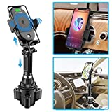 Wireless Car Charger,2-in-1 Cup Holder Phone Mount Charger Auto-Clamping Air Vent Phone Holder Compatible with iPhone 11/11Pro/11Pro Max/Xs Max/XS/XR/X/8/8+, Samsung S10/S10+/S9/S9+/S8/S8+