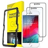 JEDirect iPhone SE 2020/iPhone8/iPhone7/iPhone6s/iPhone6 用 強化ガラス 液晶保護フィルム ガイド枠付き 4.7インチ 2枚セット