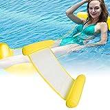 CINSEY Cama inflable plegable, colchoneta de agua, tumbona para piscina, tumbona hinchable para piscina para adultos y niños, color amarillo