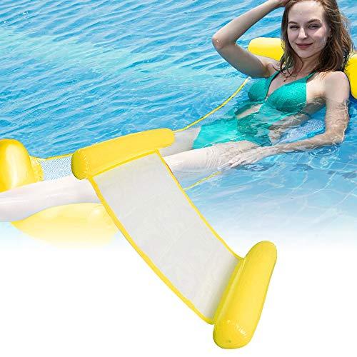 CINSEY Cama inflable plegable para piscina, hamaca, colchoneta hinchable para piscina para adultos y niños.