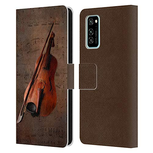 Head Case Designs Offizielle Simone Gatterwe Geige Vintage Und Steampunk Leder Brieftaschen Handyhülle Hülle Huelle kompatibel mit Honor V30 / Honor View 30