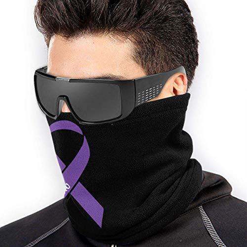 ShiHaiYunBai Braga Cuello Moto Calentador de Cuello Deporte Calentador Pasamontañas Polar Multifuncional Máscara Pancreatic Cancer Strong Men's Women's Face Masks Headwear Neck Warmer Windproof Mask