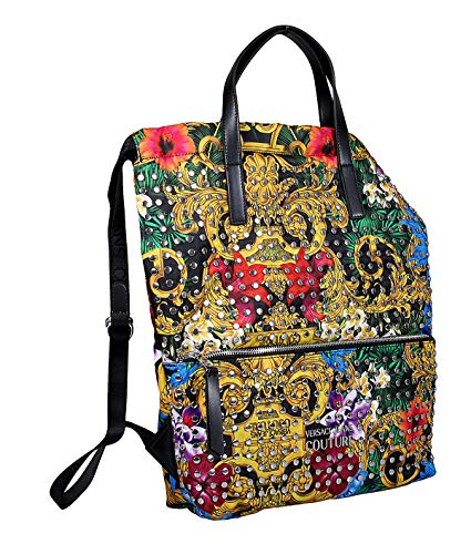 Versace Jeans Couture women Tropical baroque backpack nero
