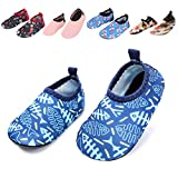 BARERUN Baby Girls Boys Swim Water Shoes Quick Dry Non-Slip Water Skin Barefoot Sports Shoes Aqua Socks for Infant Blue 18-24 Months Infant