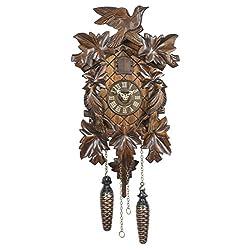 Trenkle Quartz Cuckoo Clock 5-Leaves, Bird TU 351 Q