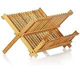 com-four® Escurridor para Platos, Plegable - Escurridor de bambú - Escurridor...