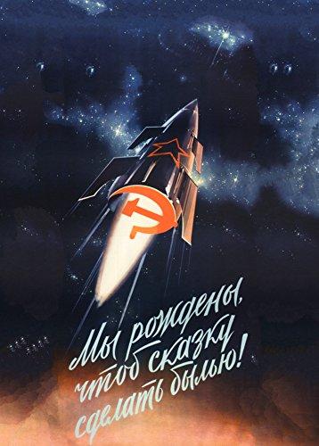World of Art Kunstdruck/Poster, Vintage-Stil, Motiv sowjetisches Propagandaposter für die Raumfahrt