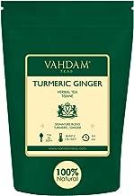VAHDAM, Turmeric + Ginger POWERFUL SUPERFOOD Blend (100 Cups) Herbal Tea   POWERFUL Wellness & Healing Properties of TURMERIC & GINGER   100% NATURAL   Brew as Hot or Iced Tea   7oz