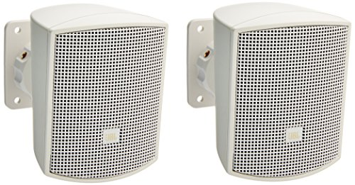 JBL Professional Control 52-WH Surface-Mount Satellite Speaker for Subwoofer-Satellite Loudspeaker System, White, Sold as Pair