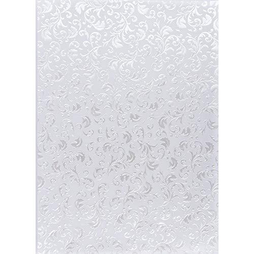 Premium-Transparentpapiere, Nova Noblesse mit Top-Prägung & Perlmuttlack, DIN A4, 5 Bogen (weiß, Design 01)