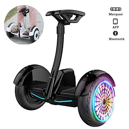 QX Scooter Self Balancing Scooter Zweirad 10 'smart Self Balance Scooter Mit Bluetooth-Lautsprecher, Led-Leuchten, Blinkenden Rädern, Sicheren Geschenken Für Erwachsene Und Kinder,Schwarz