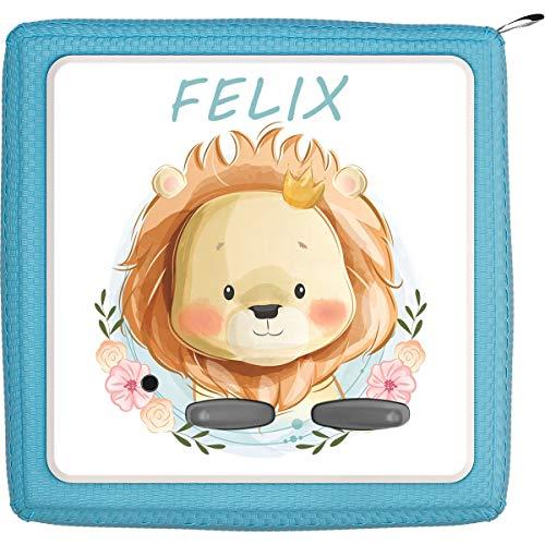 TheSmartGuard Schutzfolie passend für die Toniebox | Folie Sticker | Baby Löwe lächelt Dich an mit Name personalisiert