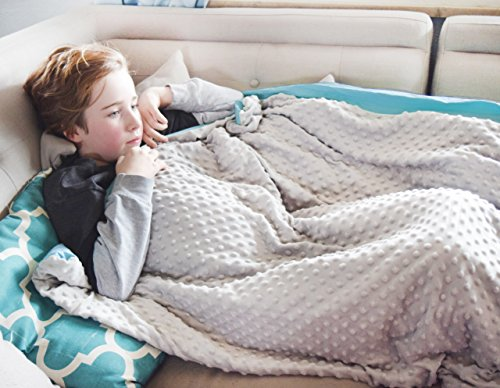CMFRT Cozy Weighted Blanket Set w/Duvet Cover - Get Quality Rest, Great for Anxiety, ADHD, Autism and OCD Relief - (41