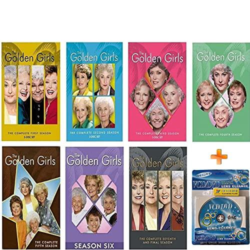 Golden Girls Seasons 1-7 The Complete Series Collection + DVD Lens Cleaner! Bundle Set