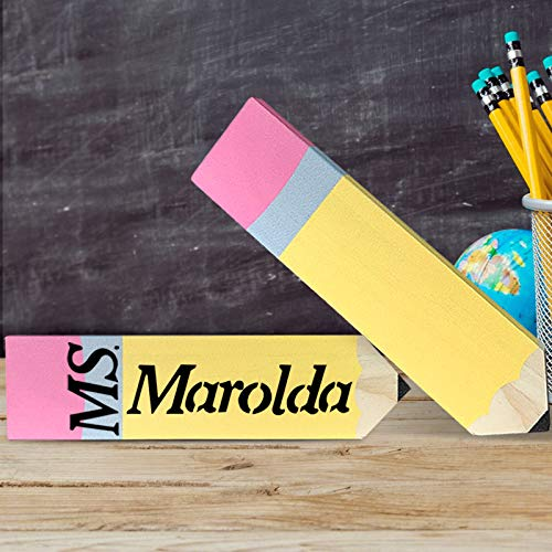 Personalized Pencil Teacher Name Plates