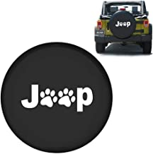 jeep tire cover with paw prints