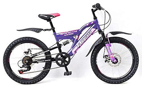 Boss Stealth Purple 20 Inch Full Suspension Mountain Bike Female Teenager to Adult- MV Sports