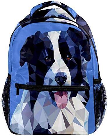 Hond Portret Kleur afdrukken Mode Rugzak School Studenten Boek Tas Outdoor Reizen Camping Wandelen Casual AllMatch Grote Capaciteit voor Kids Meisjes Jongens