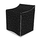 Ambesonne Galaxy Space Washer Cover, Star Cluster in Sky Shooting Celestial Body Orderly Repeated Pattern, Washroom Decor with Dust Protection, 29' x 28' x 40', Charcoal Grey White