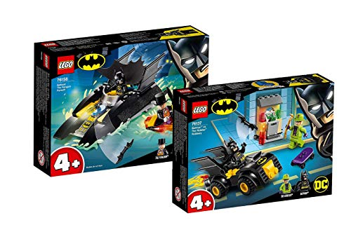 Collectix Lego DC Comics Super Heroes - Set: 76158 Verfolgung des Pinguins - mit dem Batboat + 76137 Batman vs der Raub des Riddler