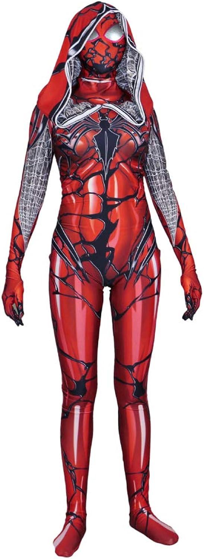 Entrega directa y rápida de fábrica WEGCJU WEGCJU WEGCJU Traje De Spider-Man De Las Mujeres CosJugar Adultos Leotardos Monos Disfraces Disfraces De Baile Fiesta De Halloween Props Juguetes para Niños,rojo-M  ventas directas de fábrica