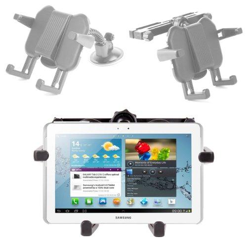 DURAGADGET Fixation 2 en 1 Appui-tête et Pare-Brise pour Tablette Samsung Galaxy Tab 2 P5110/P5100, Tab 3 P5210/P5200 et Note 8.0 -N5100/N5110