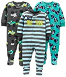 Simple Joys by Carter's 3-Pack Flame Resistant Fleece Footed Pajamas Infant-and-Toddler Sets, Brother/Trucks/Gorillas, 18 Meses,