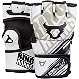 Ringhorns Nitro, Guanti da MMA Unisex – Adulto, Bianco, L/L/XL