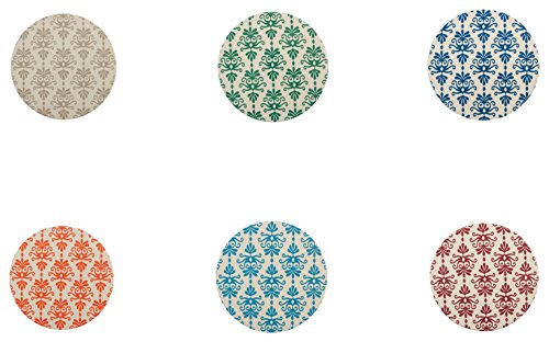 Galileo Casa Ikat Sottomacchinetta Tondo, Ceramica, Sughero, Multicolore