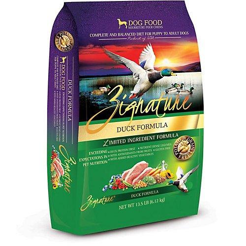 Zignature Grain Free Duck Dry Dog Food (27lb)