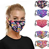 HUYURI 5pc Mouth for Dust Protection Anti Face Washable Earloop