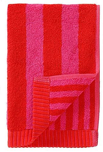 Marimekko - Kaksi Raitaa - Handtuch, Gästetuch - 30 x 50 cm - Farbe: Rot, Pink - Gestreift