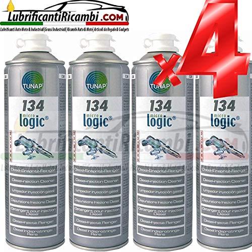 Tunap 4 x 134 500 ML – Additif nettoyant injecteurs Diesel – 4 Bouteilles de gaz Super Offre